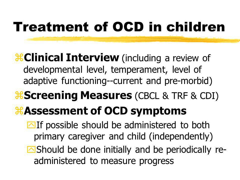 Treatment of OCD in children