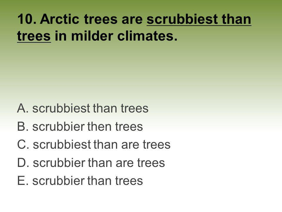 10. Arctic trees are scrubbiest than trees in milder climates.