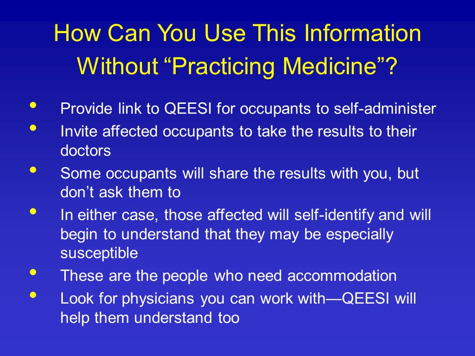 How Can You Use This Information Without Practicing Medicine