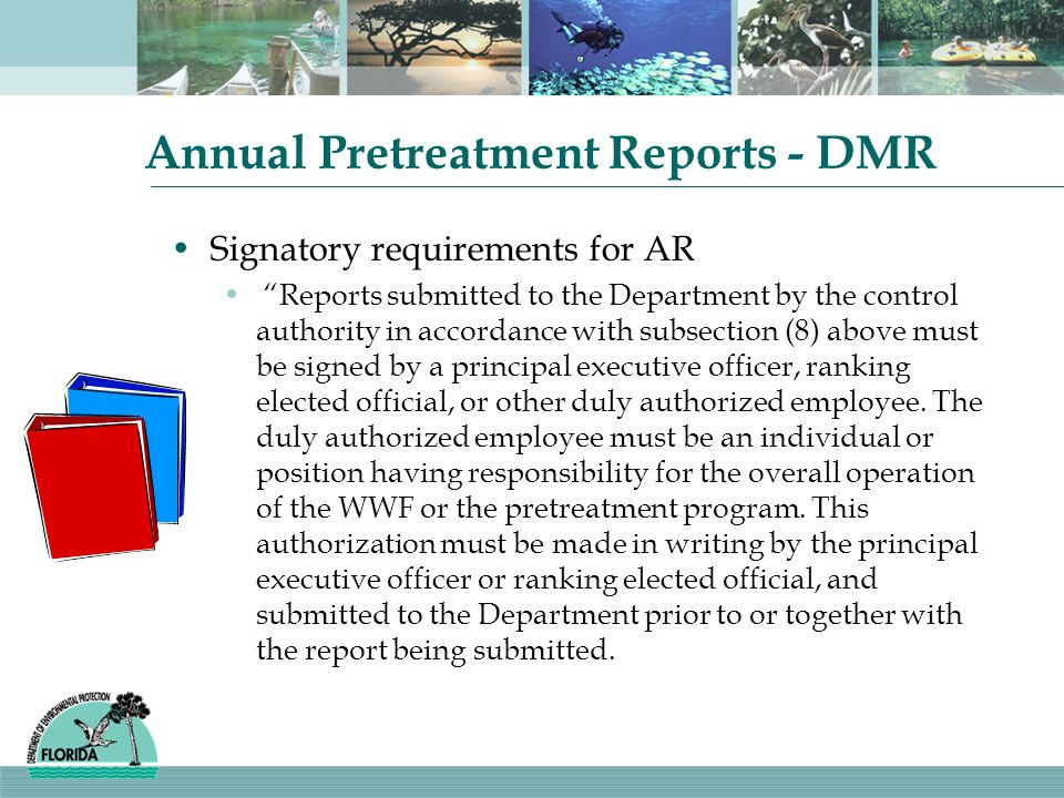 Annual Pretreatment Reports - DMR