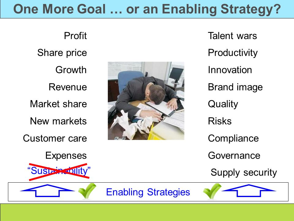 One More Goal … or an Enabling Strategy