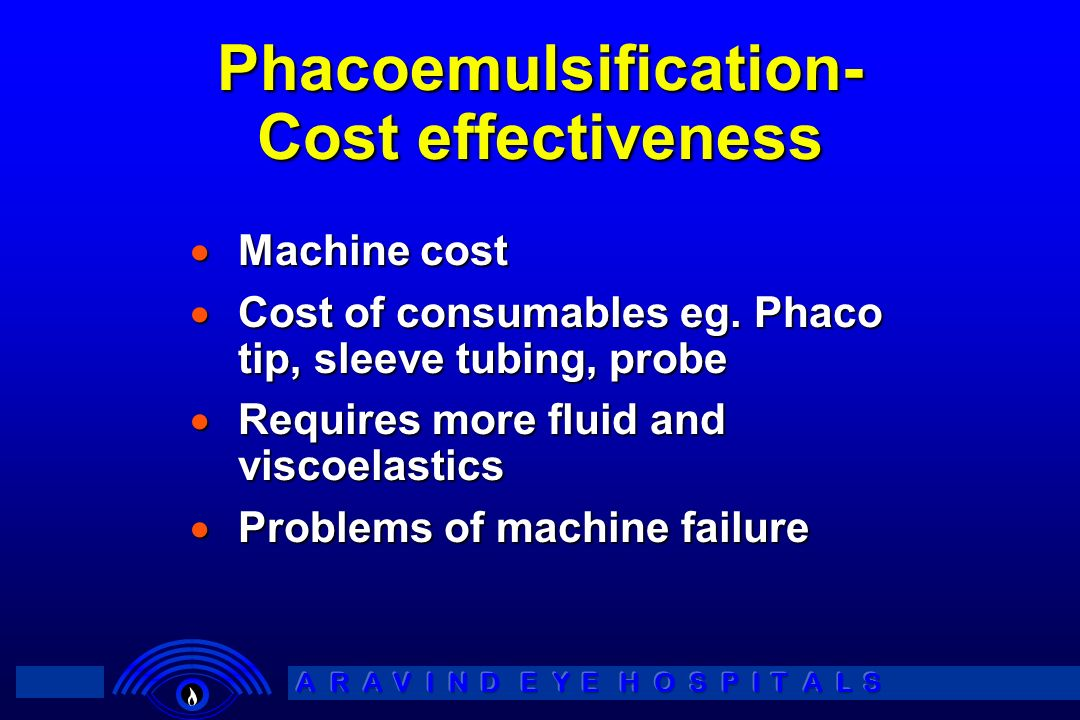 Phacoemulsification- Cost effectiveness