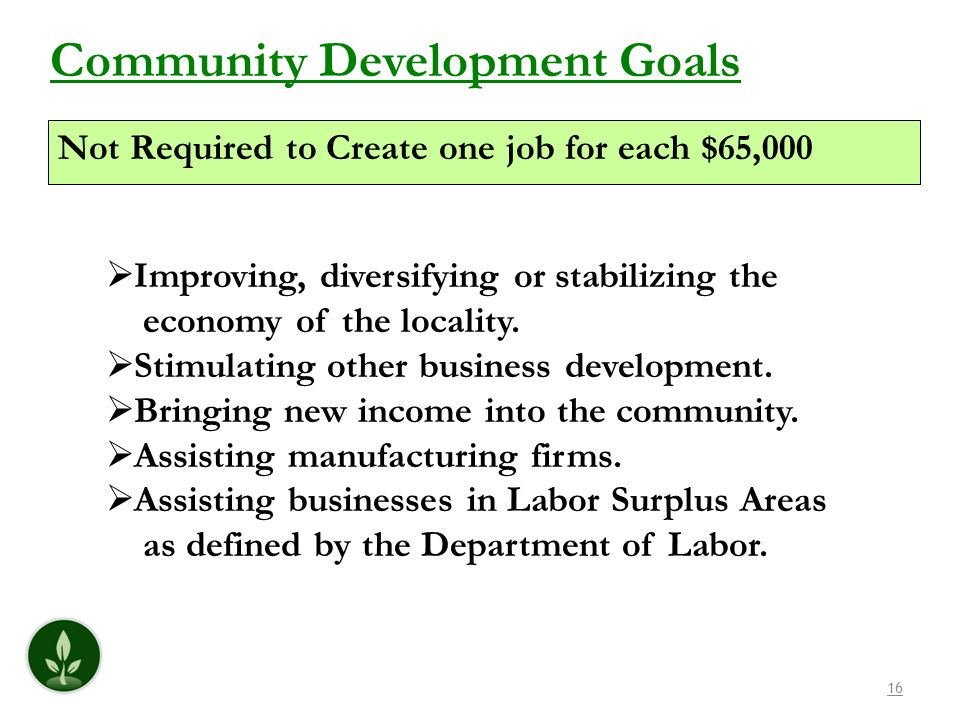 Community Development Goals