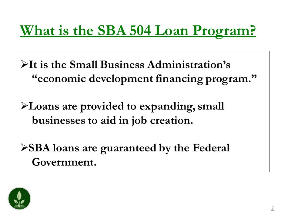 What is the SBA 504 Loan Program