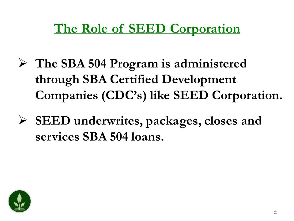 The Role of SEED Corporation