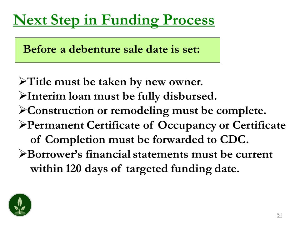 Next Step in Funding Process