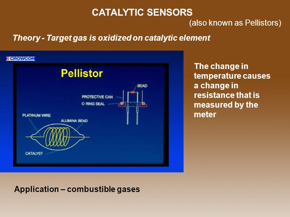 CATALYTIC SENSORS (also known as Pellistors)
