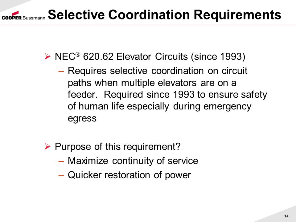 Selective Coordination Requirements