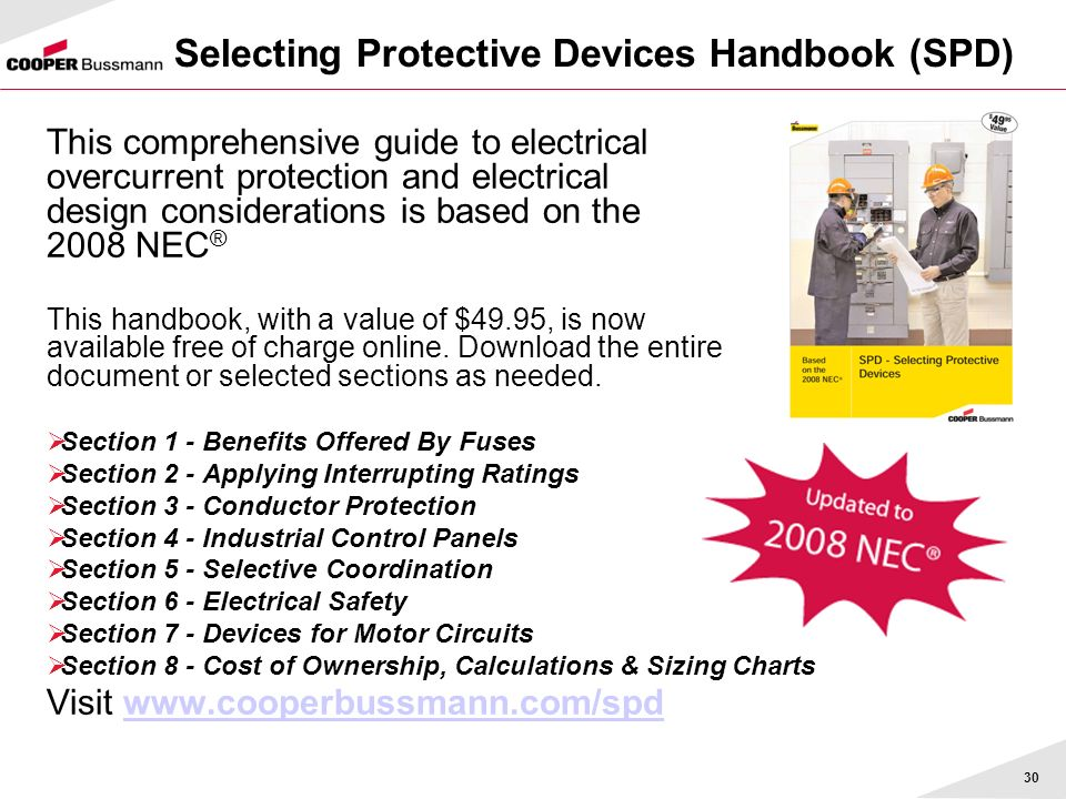 Selecting Protective Devices Handbook (SPD)