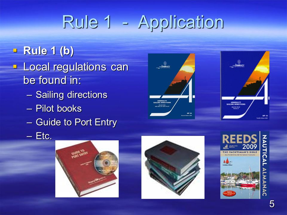 Rule 1 - Application Rule 1 (b) Local regulations can be found in: