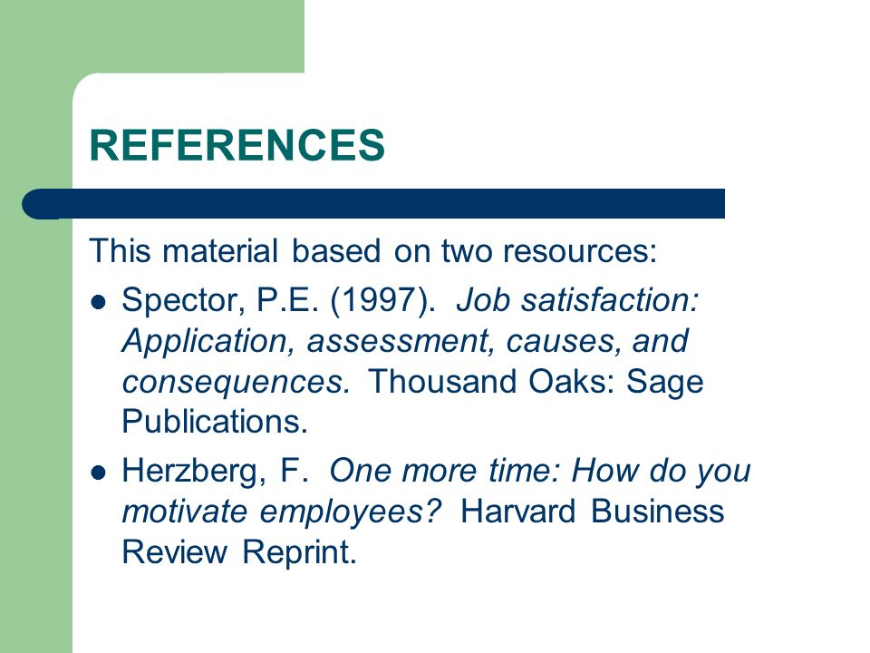 REFERENCES This material based on two resources:
