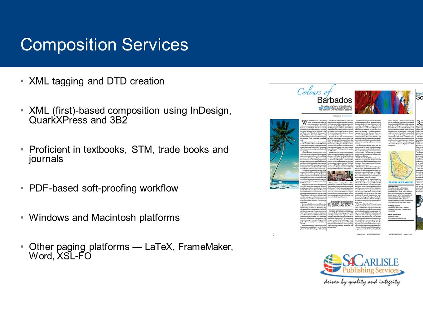 Composition Services XML tagging and DTD creation