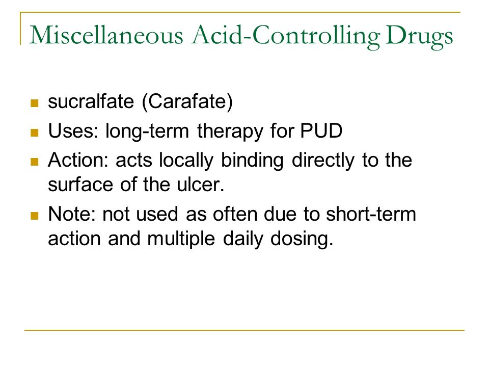Miscellaneous Acid-Controlling Drugs