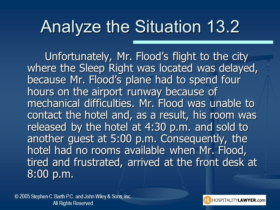 Analyze the Situation 13.2