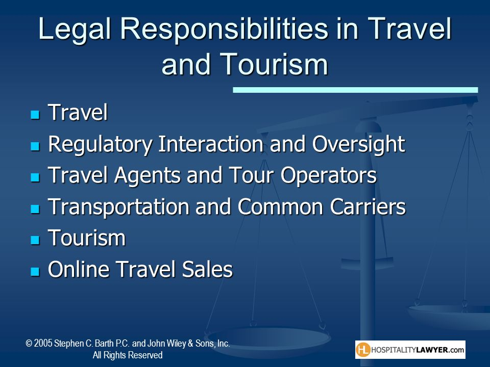 Legal Responsibilities in Travel and Tourism