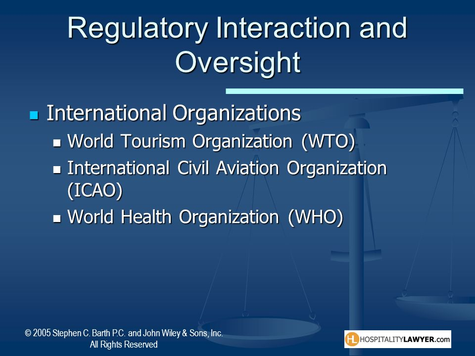 Regulatory Interaction and Oversight
