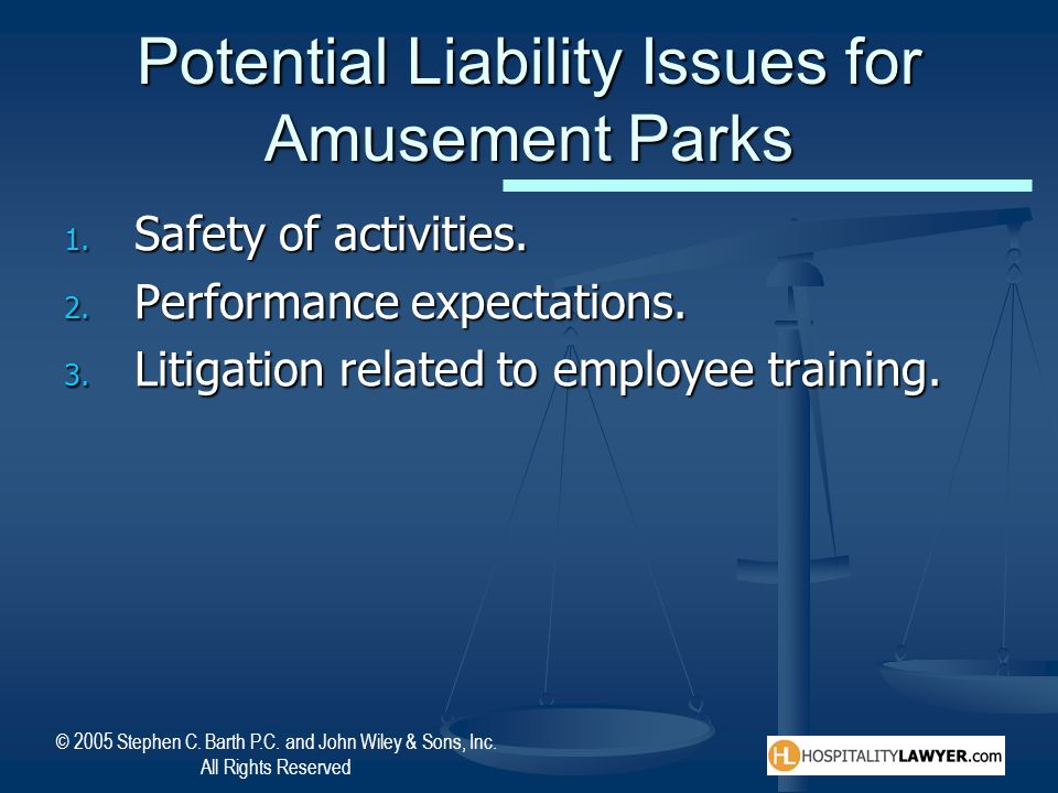 Potential Liability Issues for Amusement Parks