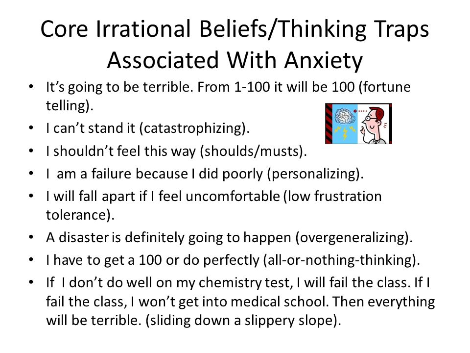 Core Irrational Beliefs/Thinking Traps Associated With Anxiety