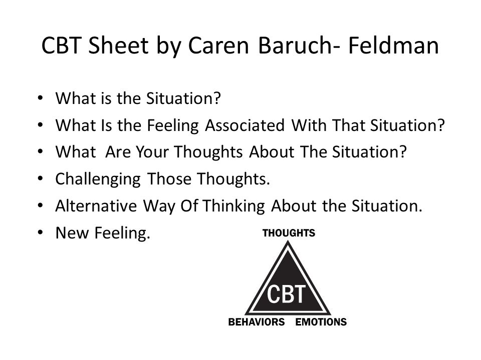 CBT Sheet by Caren Baruch- Feldman