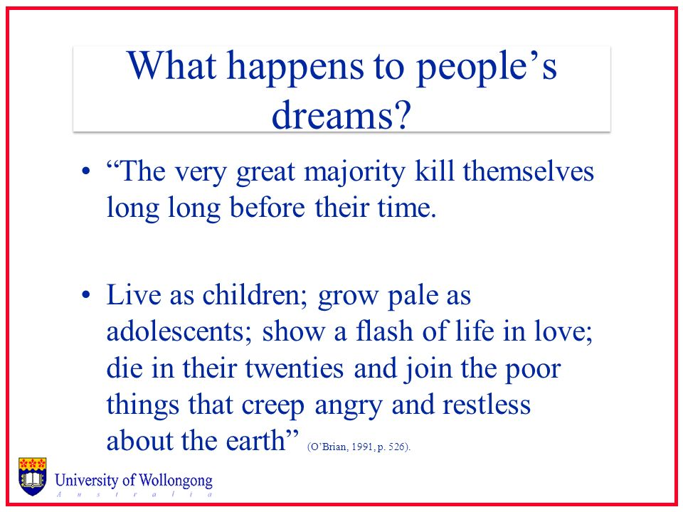 What happens to people's dreams