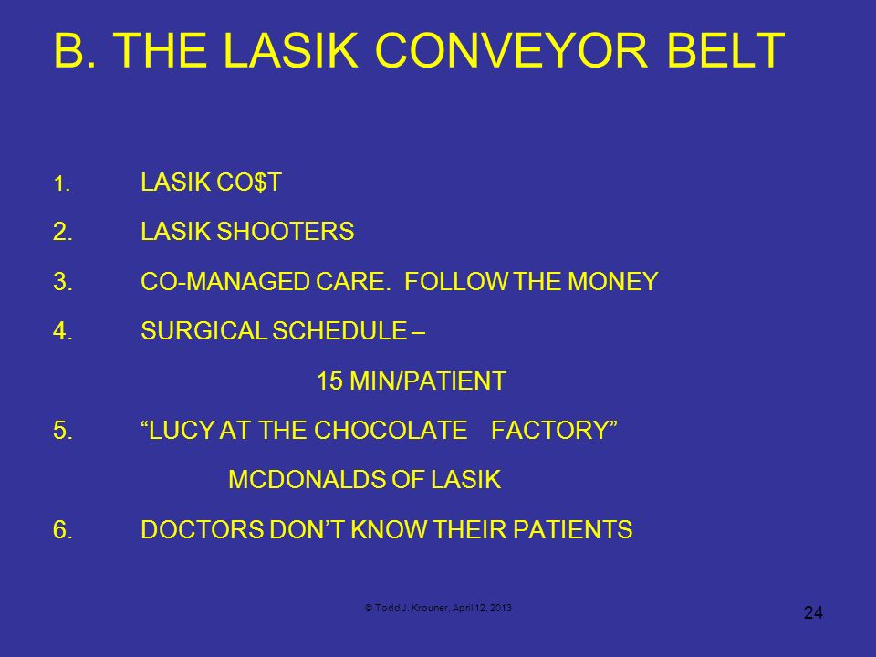 B. THE LASIK CONVEYOR BELT
