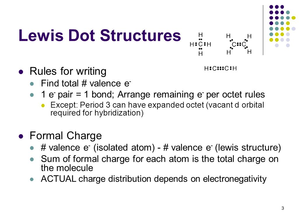 Lewis Dot Structures Rules for writing Formal Charge
