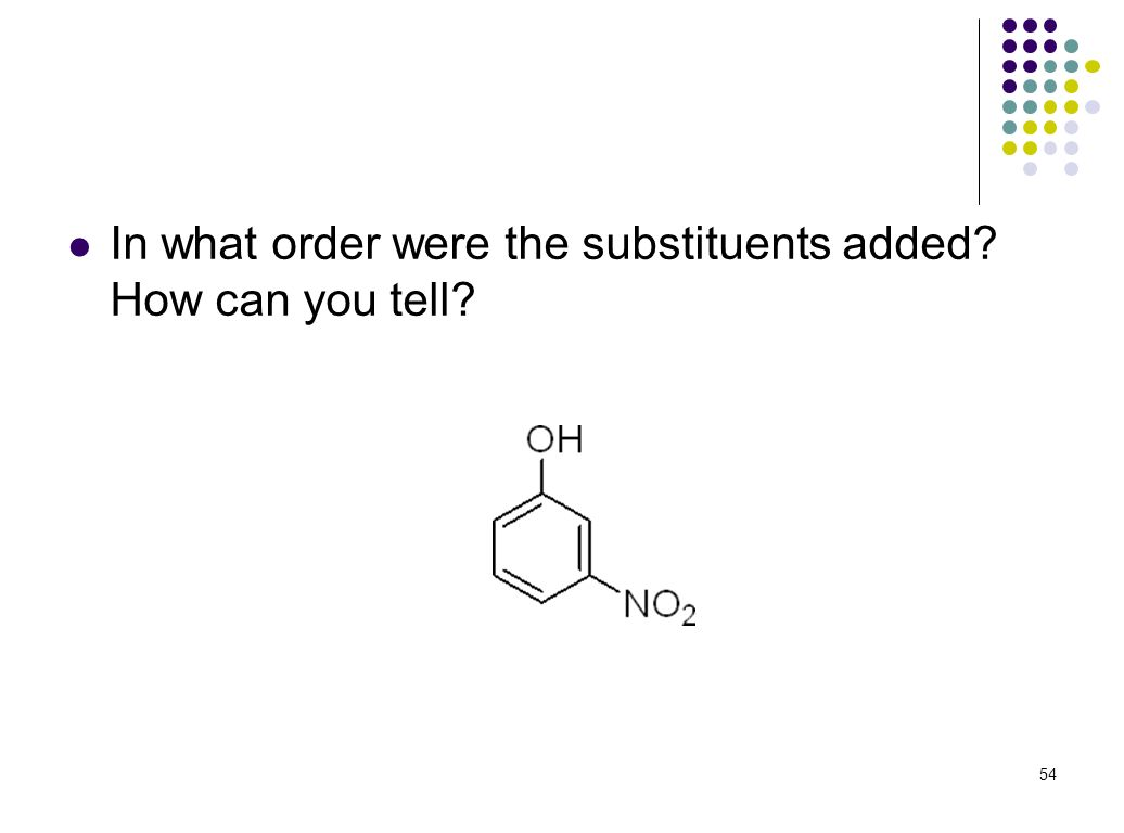 In what order were the substituents added How can you tell