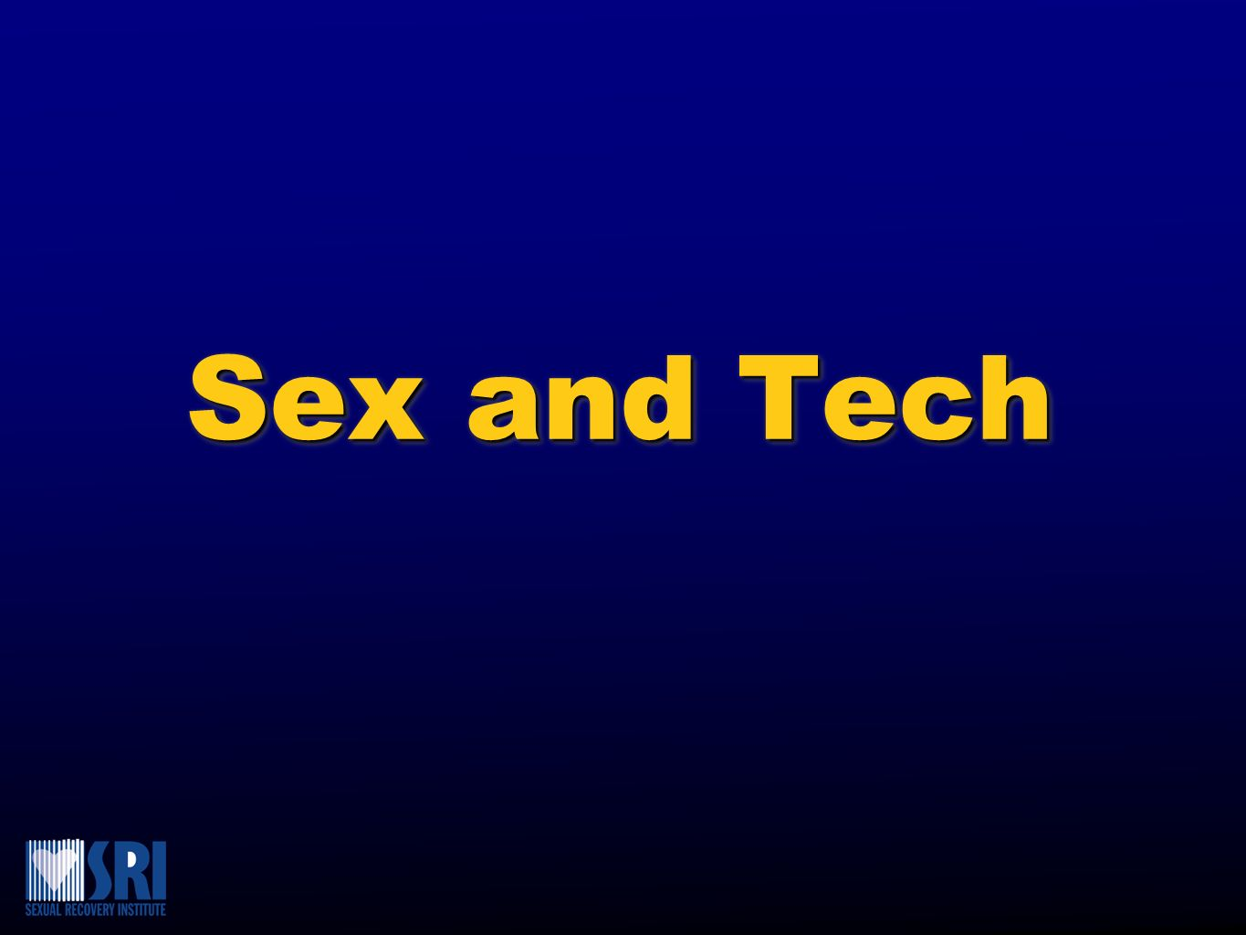 Sex and Tech