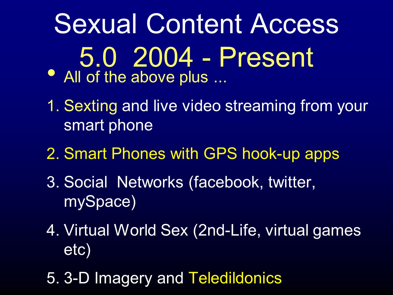 Sexual Content Access Present