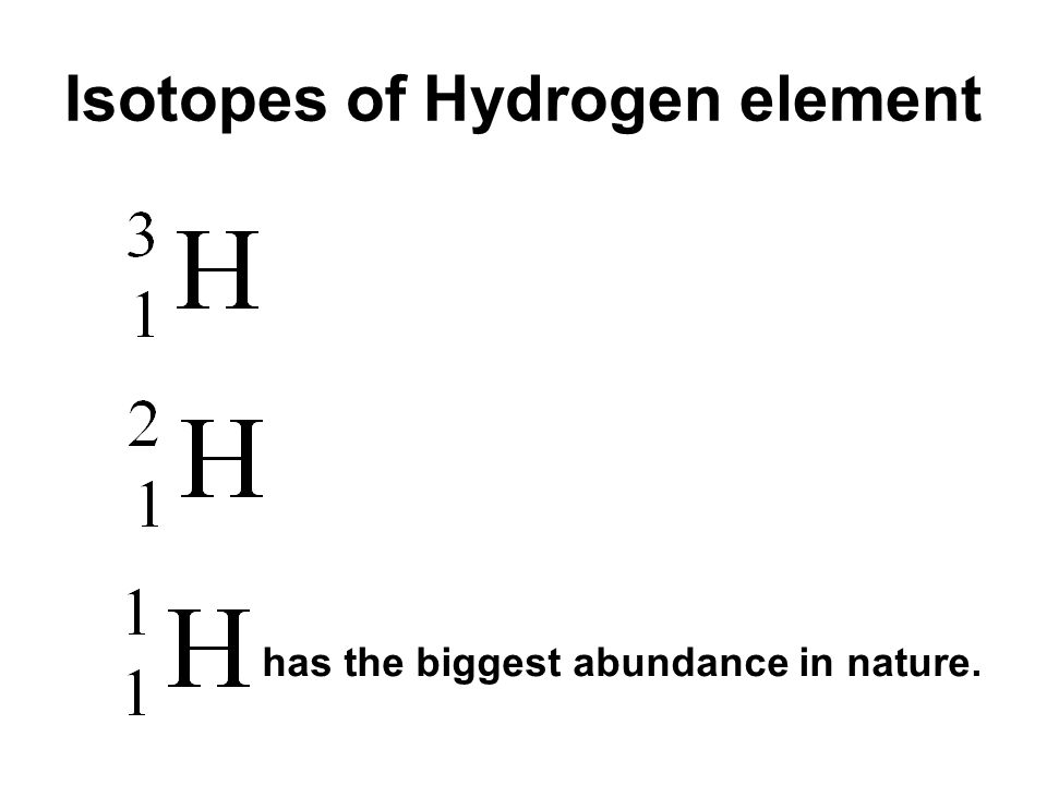 Isotopes of Hydrogen element