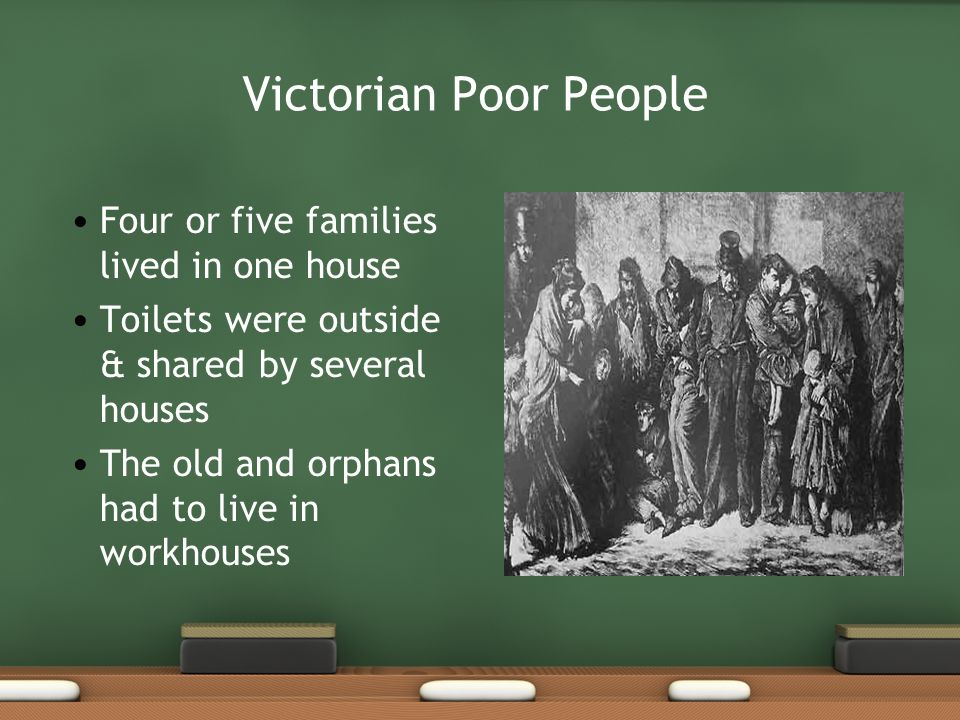 Victorian Poor People Four or five families lived in one house