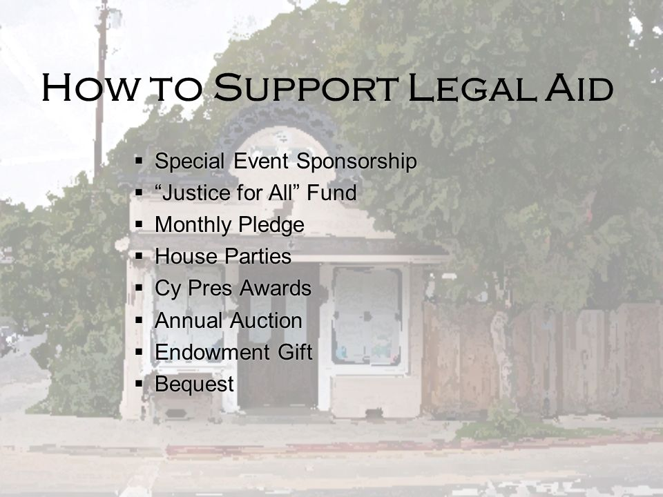 How to Support Legal Aid
