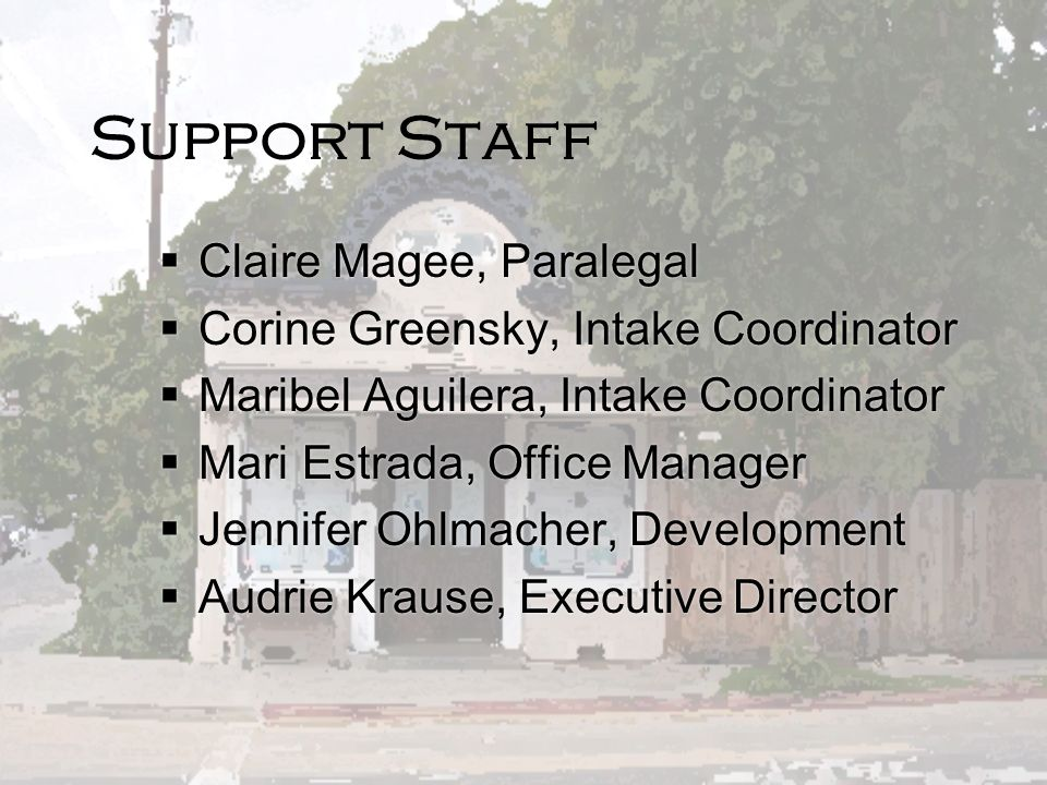 Support Staff Claire Magee, Paralegal