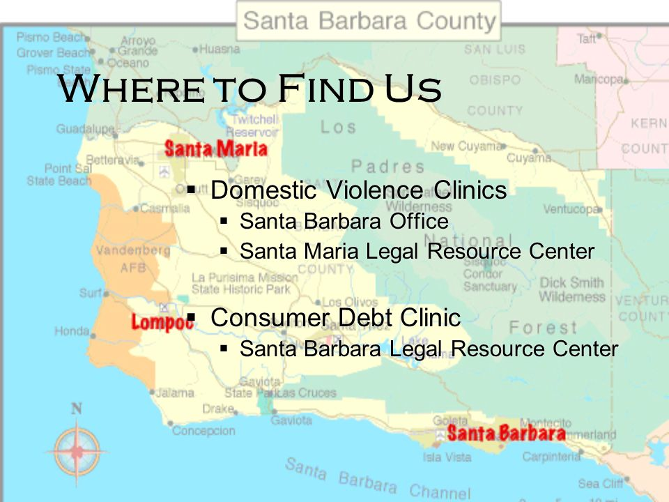 Where to Find Us Domestic Violence Clinics Consumer Debt Clinic