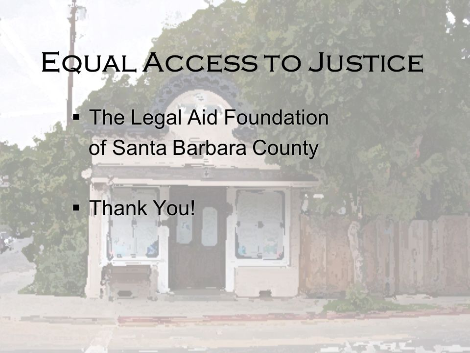 Equal Access to Justice