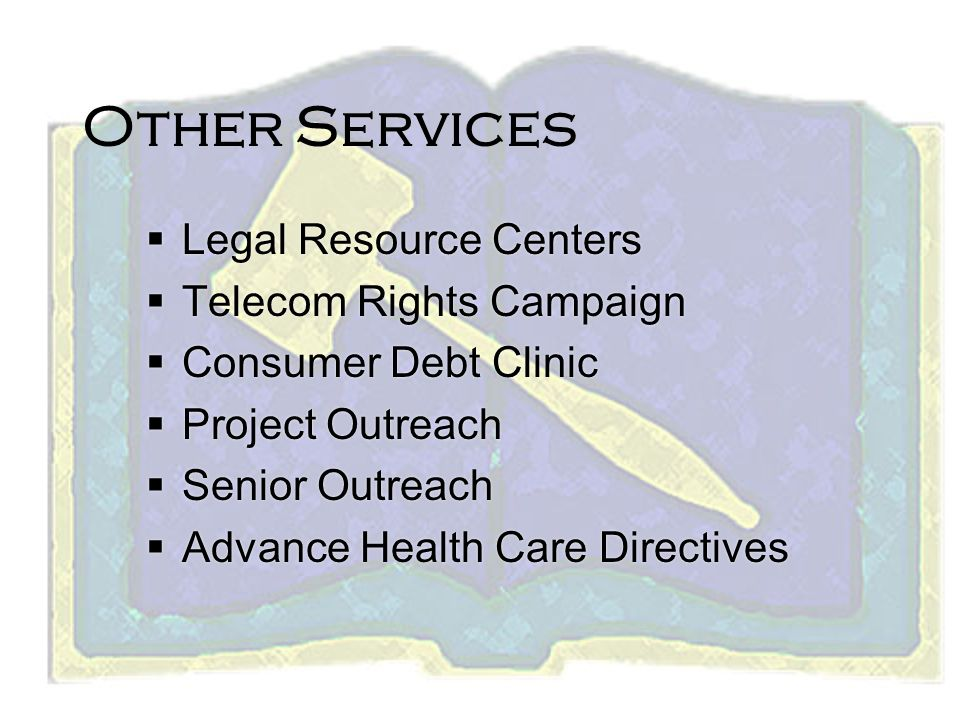 Other Services Legal Resource Centers Telecom Rights Campaign