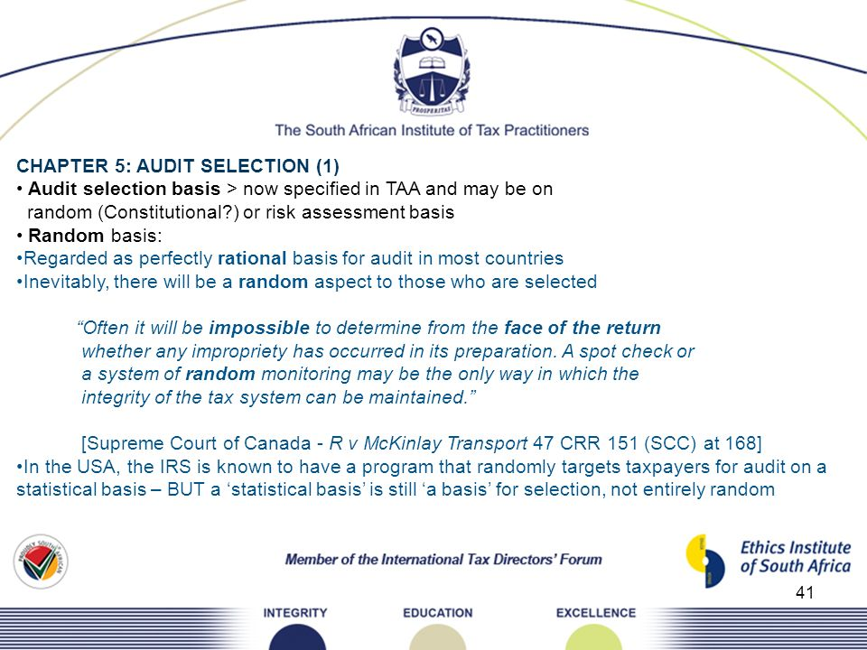 CHAPTER 5: AUDIT SELECTION (1)