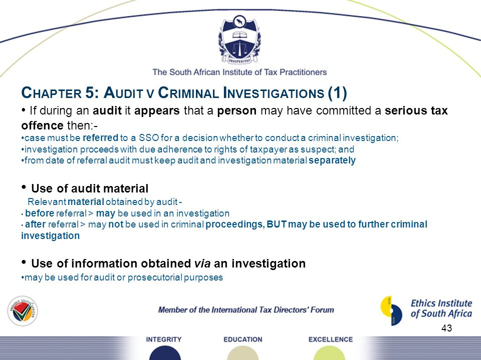 CHAPTER 5: AUDIT V CRIMINAL INVESTIGATIONS (1)