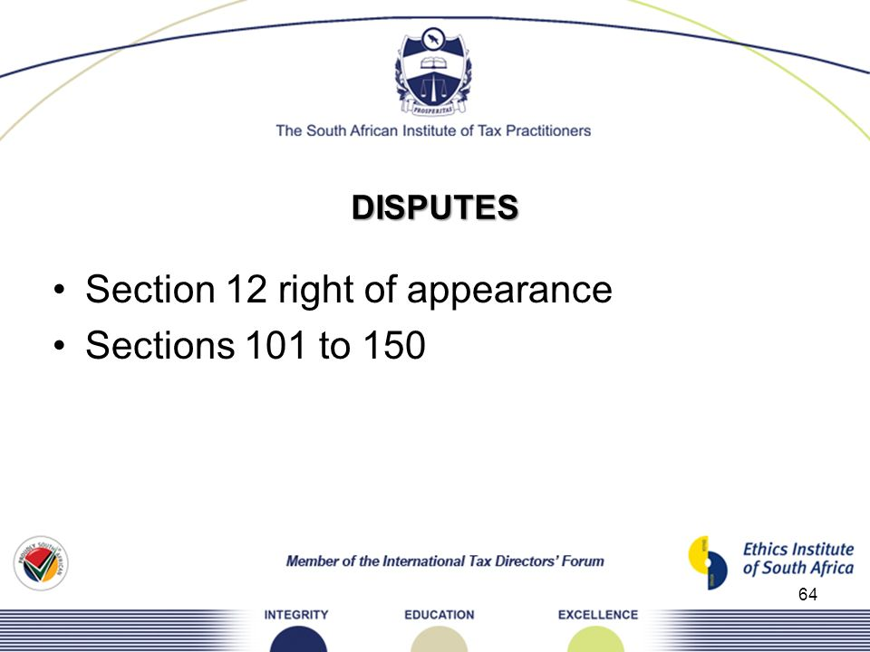 Section 12 right of appearance Sections 101 to 150