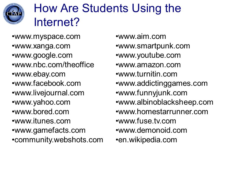 How Are Students Using the Internet