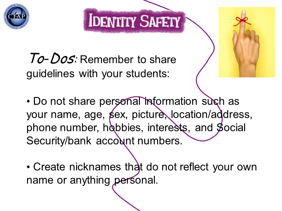 To-Dos: Remember to share guidelines with your students: