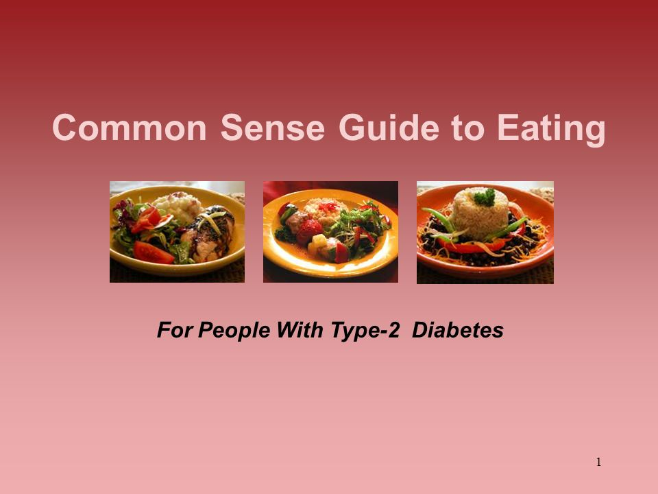 Common Sense Guide to Eating