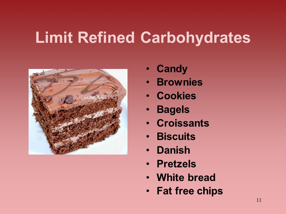 Limit Refined Carbohydrates