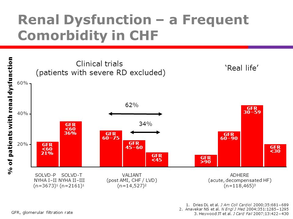 Renal Dysfunction – a Frequent Comorbidity in CHF