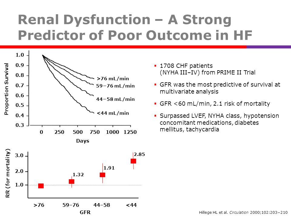Renal Dysfunction – A Strong Predictor of Poor Outcome in HF