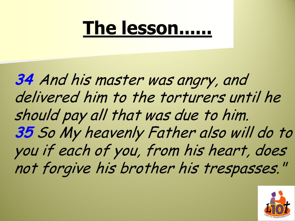 The lesson......