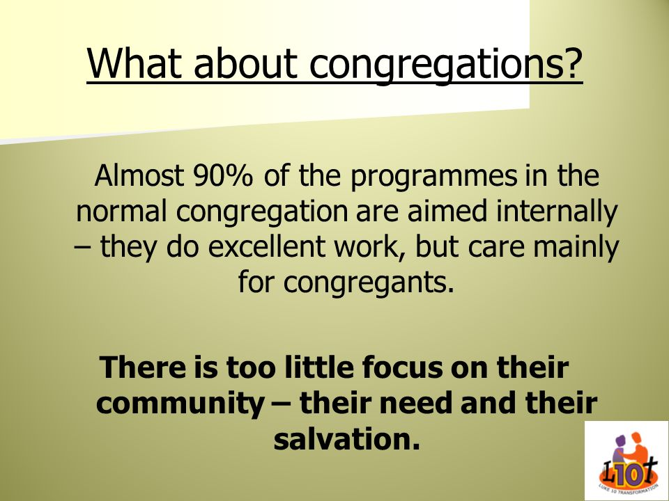What about congregations