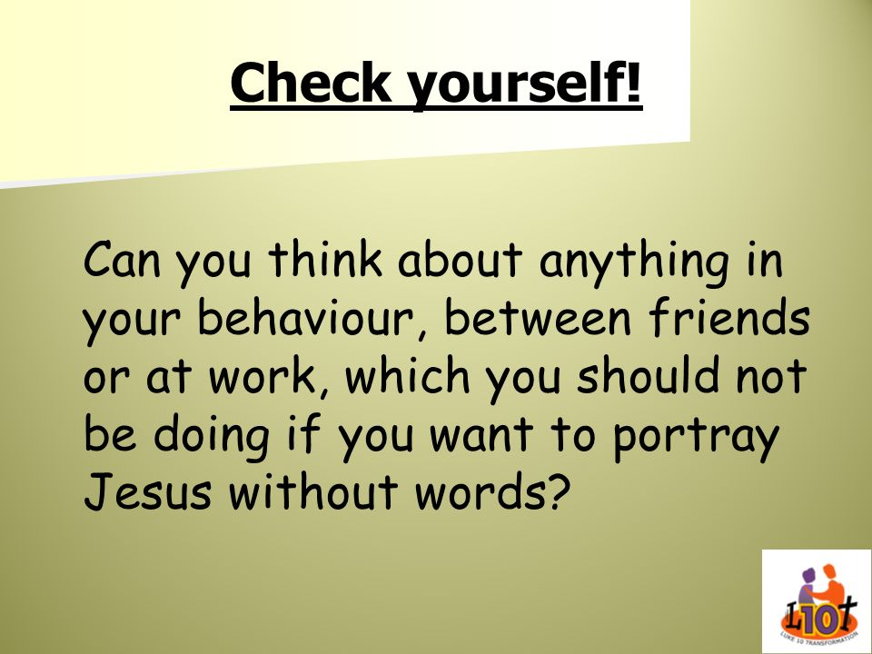 Check yourself!