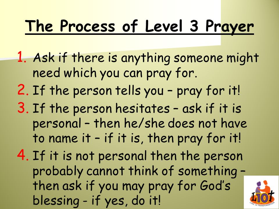 The Process of Level 3 Prayer