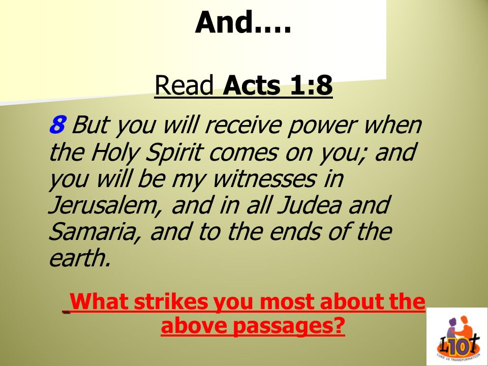 What strikes you most about the above passages